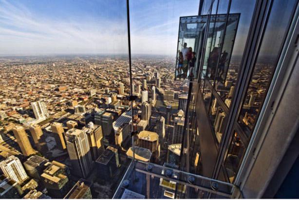 Khung cảnh thành phố Chicago nhìn từ trên cao