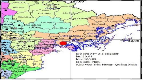 Động đất ở Quảng Ninh