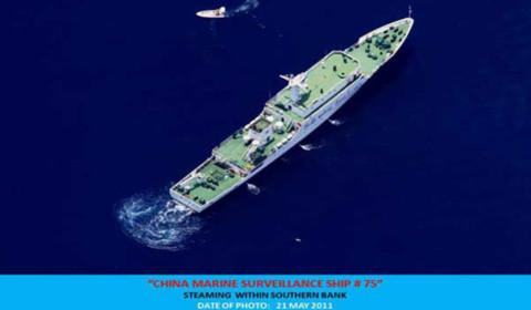 Philippines: Tàu quân sự TQ xuất hiện gần Reed Bank