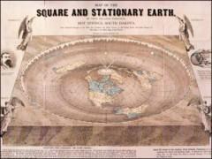 """Tấm bản đồ cổ về """"trái đất phẳng"""""""
