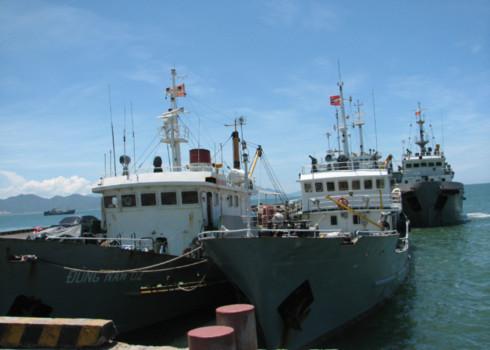 Tàu bình Minh 02 tiếp tục hành trình với 8 tàu bảo vệ