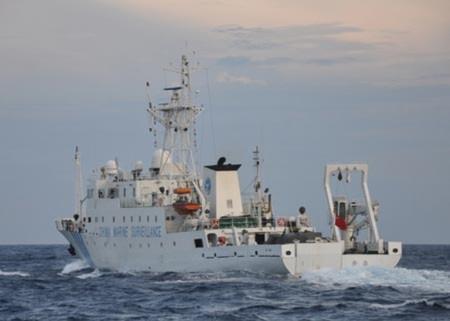 Tàu hải giám Trung Quốc đã tấn công tàu Bình Minh 02 hôm 26/5. Ảnh: