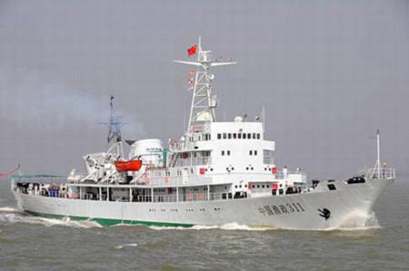Tàu ngư chính 311 là một trong những tàu tuần ngư lớn nhất của Trung Quốc. Ảnh: China Daily.