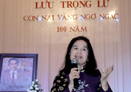 NSND Trà Giang xúc động nhắc lại kỷ niệm với Lưu Trọng Lư.