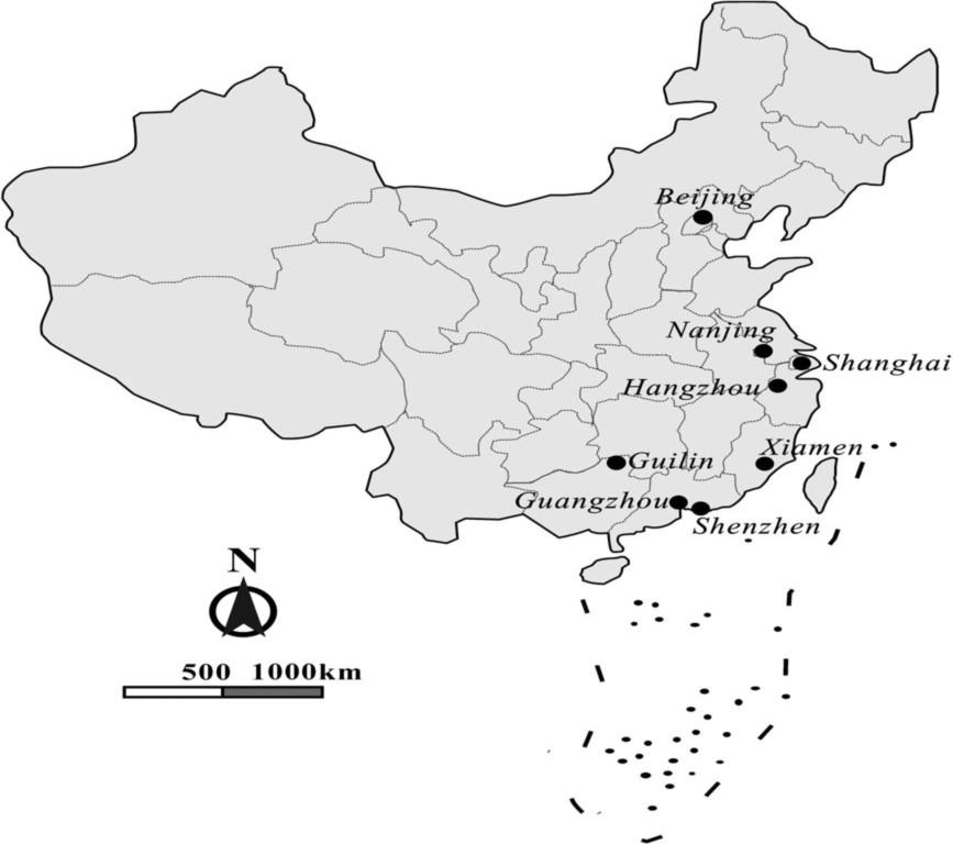 Bản đồ Trung Quốc với đường lưỡi bò trong bài báo trên tạp chí Waste Management vi phạm chủ quyền Việt Nam