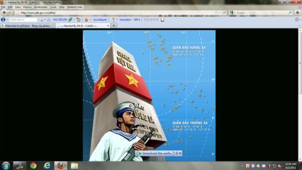 Website chính phủ Trung Quốc bị hacker Việt Nam tấn công