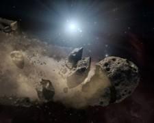 Hình minh họa thiên thạch trong hệ Mặt Trời. Ảnh: