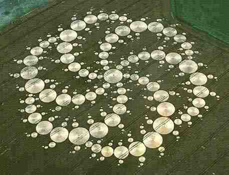 Hình 2: Các hình tròn xếp như hình chữ Vạn (卍) của Phật gia xoay tròn.