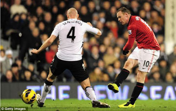 Wayne Rooney ghi bàn thắng duy nhất cho M.U.