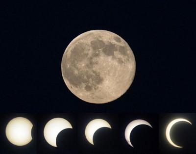 Mặt trăng muôn hình vạn trạng khiến con người thích thú thưởng ngoạn. (Ảnh:AFP)