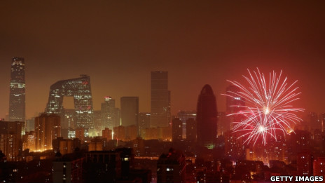 Màn trình diễn pháo hoa tại Bắc Kinh năm nay lặng lẽ hơn mọi năm