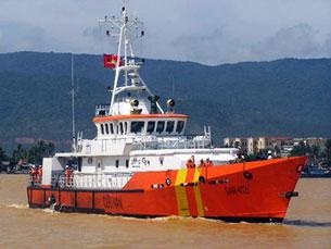 Tàu cứu nạn SAR 412 chuẩn bị lên đường làm nhiệm vụ cứu nạn trên biển Photo HC/infonet