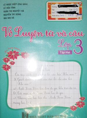 Bìa ấn phẩm Luyện từ và câu lớp 3