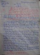 Bài văn xúc động về người cha của Nguyễn Thị Hậu. (Ảnh chụp từ trang mạng xã hội của Luật sư Trần Đình Triển)