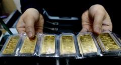 Vàng miếng hiệu SJC AFP photo