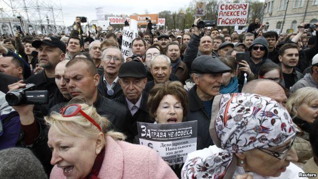 Dân Nga biểu tình chống Tổng thống Vladimir Putin