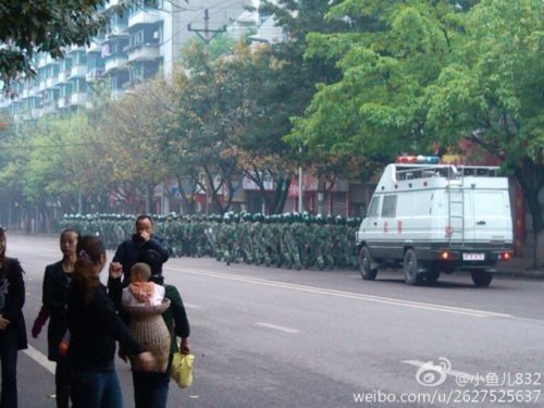 Hình ảnh 10.000 người biểu tình tại Trùng khánh- Trung Quốc - Tin180.com (Ảnh 17)