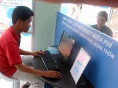 Một điểm truy cập internet dành cho nông dân ở Tiền Giang, ảnh chụp năm 2012. Photo courtesy of tiengiang.gov.vn