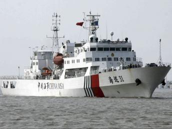 Tàu hải giám Trung Quốc trên Biển Đông (Reuters)