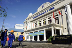 Sở Giao Dịch Chứng Khóan TPHCM. AFP photo