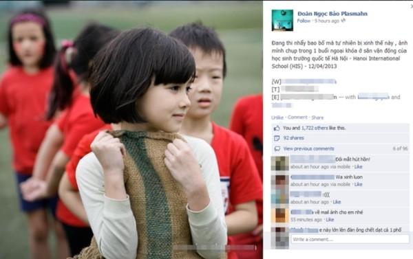 Khuôn mặt đẹp như thiên thần của cô nhóc học sinh trường Quốc tế Hà Nội - Tin180.com (Ảnh 2)