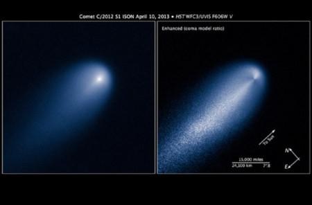 Hình ảnh sao chổi ISON. Ảnh: NASA.