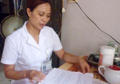 Chị Hoàng Thị Nguyệt- người tố cáo vụ việc sai phạm tại Bệnh viện Đa khoa Hoài Đức