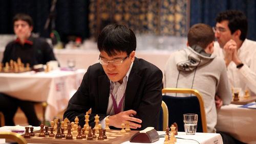 Quang Liêm đã phải trải qua trận đấu dài kỷ lục 6,5h (Ảnh: chessworldcup).