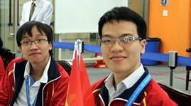 Lê Quang Liêm (phải) tại Na Uy.