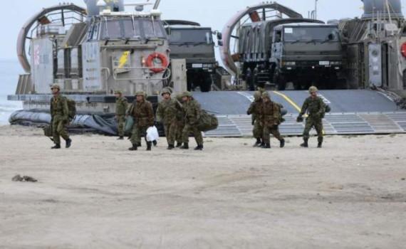 Binh lính Nhật Bản tham gia cuộc tập trận