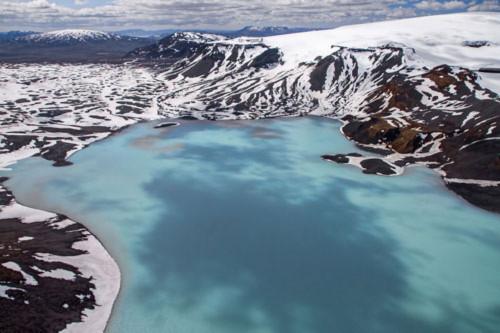 Thung lũng núi lửa tuyệt đẹp từ trên cao - 3