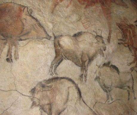 Tranh trong hang Altamira ở Anthropos Pavilion thuộc Bảo tàng Moravia, Cộng hòa Séc. (Ảnh: Wikimedia Commons)