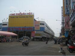 Chợ Thủ Dầu Một ở Bình Dương, ảnh chụp trước đâ