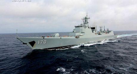 Tàu khu trục tên lửa Type 052C Lan Châu (170)