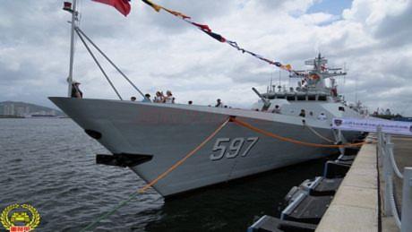 Tàu hộ vệ lớp 056 số hiệu 597 Khâm Châu của Hạm đội Nam Hải