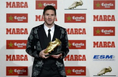 Messi là cầu thủ duy nhất 3 lần giành danh hiệu Chiếc giày vàng châu Âu - Ảnh: AFP