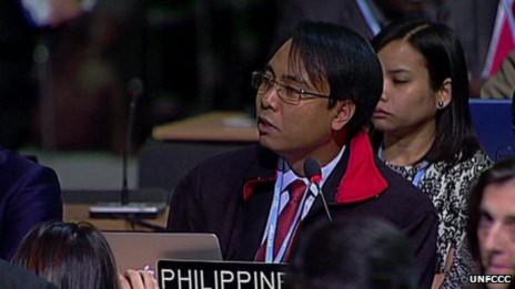 <br /><br /><br /><br /> Trưởng đoàn đàm phán Philiipines COP 19 Yeb Sano