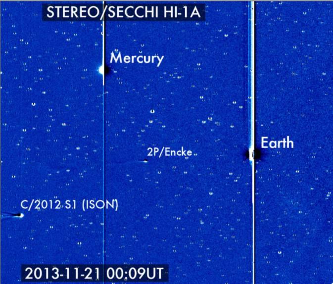 Hình ảnh STEREO của sao chổi gần mặt trời
