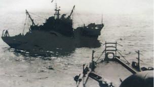 Tàu hải quân Trung Quốc tham gia tấn công Hoàng Sa tháng 1/1974.