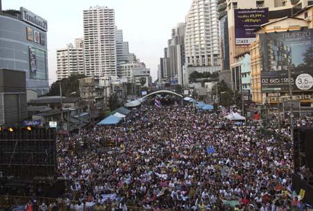 Đường phố trung tâm Bangkok ngày 14/1 tràn ngập người biểu tình