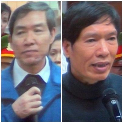 Dương Chí Dũng (trái) và em trai.