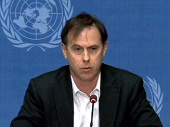 Ông Rupert Colville, người phát ngôn Phủ Cao Ủy Nhân quyền Liên hiệp quốc kêu gọi chính quyền và cảnh sát Cam Bốt tuân thủ các quy định quốc tế về nhân quyền. Reuters