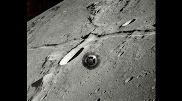 Đối tượng không rõ trên mặt trăng.  (Ảnh Internet)