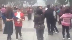 Hình ảnh đưa lên mạng xã hội cho thấy nhóm người nhảy múa hôm Chủ nhật