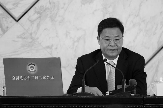 Lã Tân Hoa, phát ngôn viên chính thức, tham dự một họp báo tại Đại Lễ Đường Nhân Dân ở Bắc Kinh, ngày 2 tháng Ba, 2014