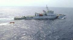 Tàu tuần tra Haixun 01 của Trung Quốc có mặt tại khu vực tìm kiếm mới.