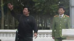 Ông Cù Huy Hà Vũ tại trại giam ở Thanh Hóa hồi năm 2012
