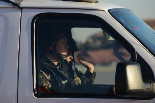 Chống khủng bố, 150 xe vũ trang tuần tra trên đường phố Bắc Kinh. (Getty Images)
