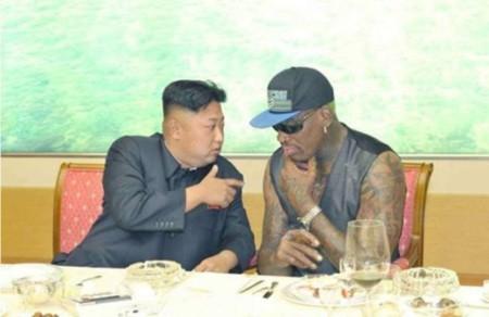 Nhà lãnh đạo Kim Jong-un và cựu sao bóng rổ