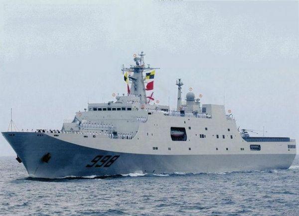 Trung Quốc điều tàu đổ bộ bảo vệ giàn khoan dầu Hải Dương . Ảnh internet